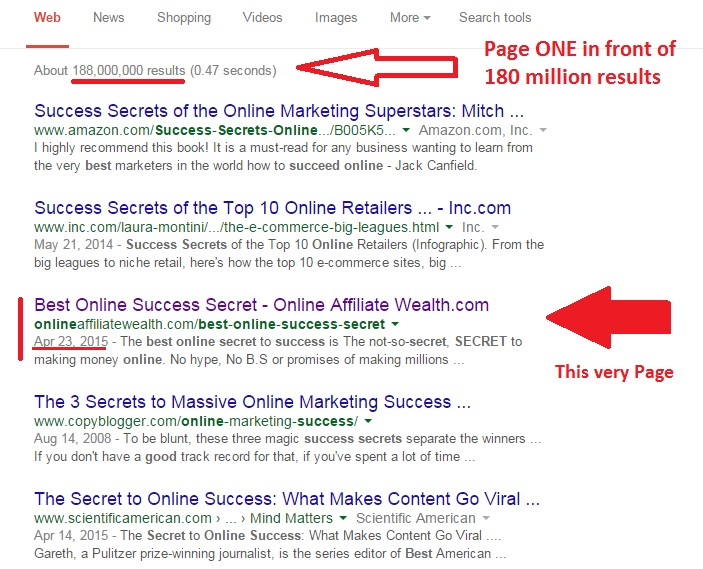Best online Success Secret