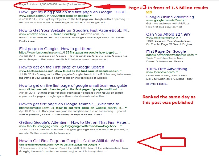 How to Get First Page on Google
